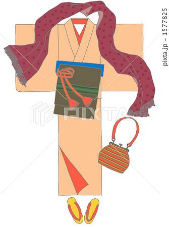 帯締め 着物 帯のイラスト素材 Pixta