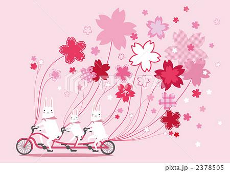 うさぎ サイクリング 親子