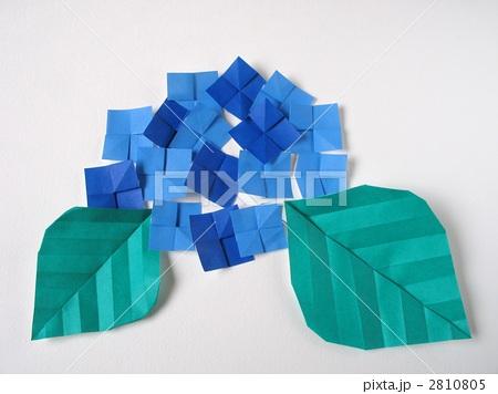 花 折り紙 紫陽花 折り紙 : pixta.jp
