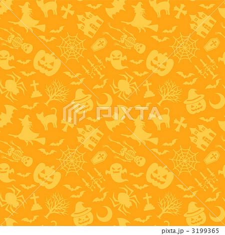 ハロウィン 背景 壁紙 パターンのイラスト素材 3199365 Pixta