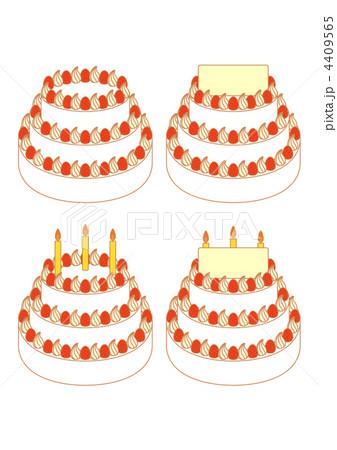 ウェディングケーキ(苺)