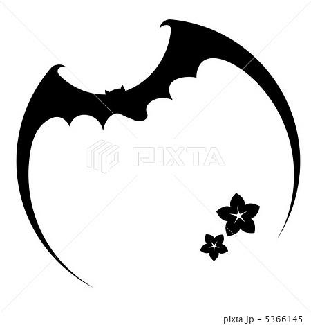 コウモリ こうもり 蝙蝠 シルエットの写真素材 Pixta