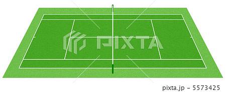 軟式テニスコートのイラスト素材 Pixta