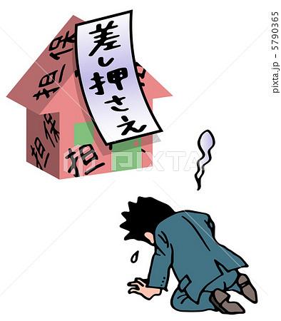 家を失い泣く男性