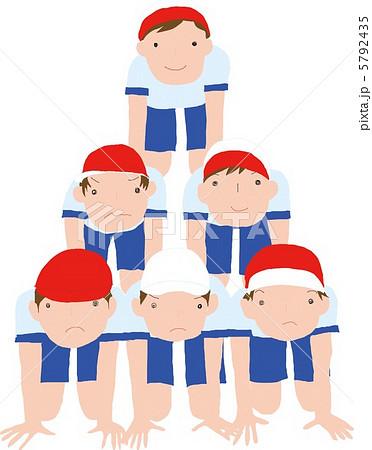 組み体操 体育祭のイラスト素材 Pixta