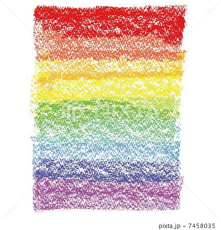 ベクター 虹色 クレヨン クリップアートの写真素材 Pixta