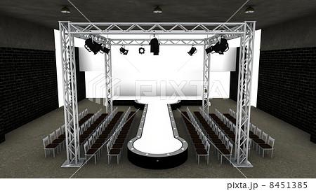 ランウェイ 舞台 ファッションショー 舞台装置のイラスト素材