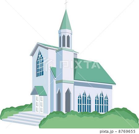 チャペル 教会 建物 イラストのイラスト素材 Pixta