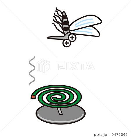 蚊取り線香のイラスト素材 9475045 Pixta