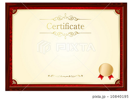 pixta retro frame certificate template vector yelopaper Gallery