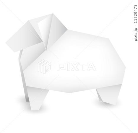 簡単 折り紙 羊の折り紙 : pixta.jp