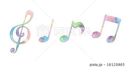 音符 イラスト パステルカラー 手書きのイラスト素材 Pixta