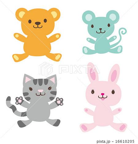 かわいい動物4種セット