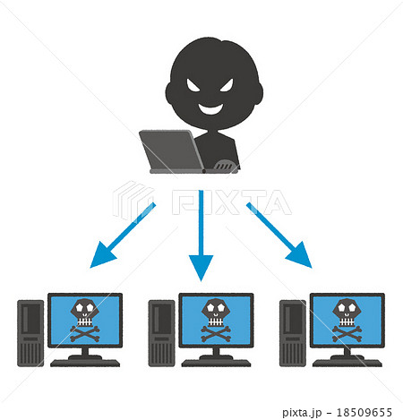 サイバー攻撃のイラスト素材 Pixta