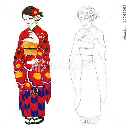 帯締め 日本 着物のイラスト素材 Pixta