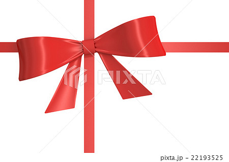 pixta red gift ribbon bow 3d rendering negle Choice Image