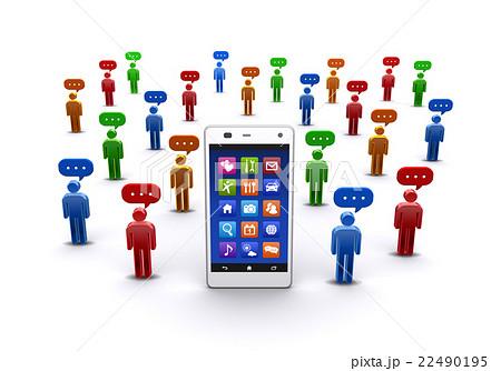 ソーシャルネットワークサービスのイラスト素材 - PIXTA