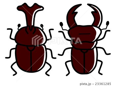 昆虫 虫 カブトムシ クワガタのイラスト素材 Pixta