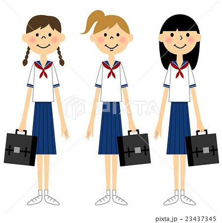 夏服の女学生
