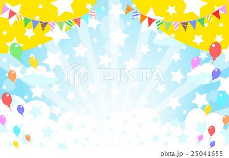 運動会 旗 青空 フラッグのイラスト素材 Pixta