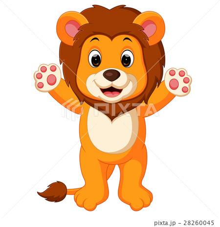 動物 かわいい イラスト ライオンの写真素材 Pixta