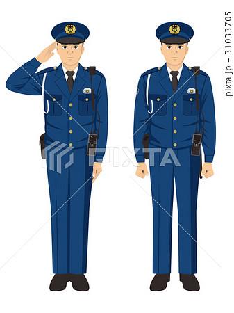 警察官 冬服 のイラスト素材 31033705 pixta