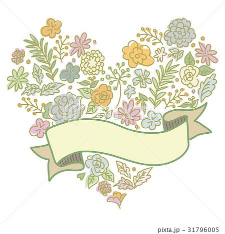 結婚 メッセージカード ウエディング 花柄のイラスト素材 Pixta