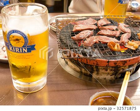 ビールと七輪:焼肉