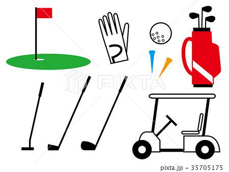 ゴルフクラブのイラスト素材集 Pixtaピクスタ