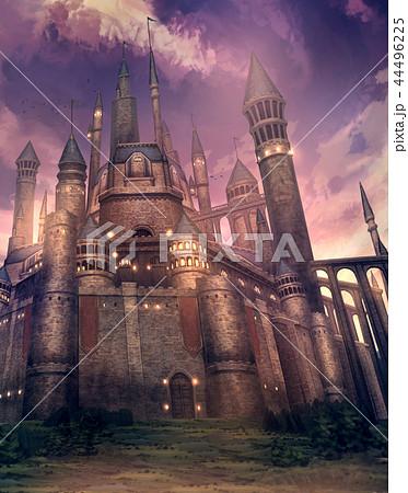 お城 ファンタジー 風景 建物のイラスト素材
