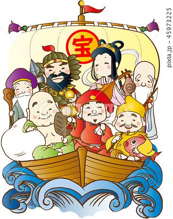 七福神のイラスト素材集 Pixtaピクスタ