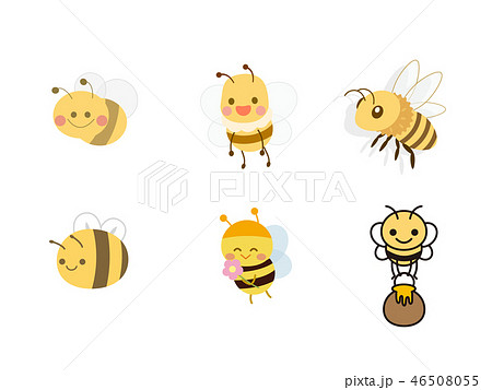 ミツバチ アイコン 蜂 かわいいのイラスト素材