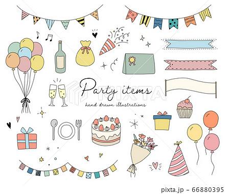 ケーキ 誕生日 イラスト 手書き 祝い かわいいのイラスト素材